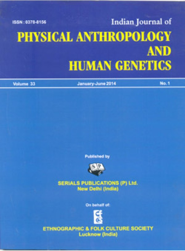 Indian Journal of Physical Anthropology and Human Genetics