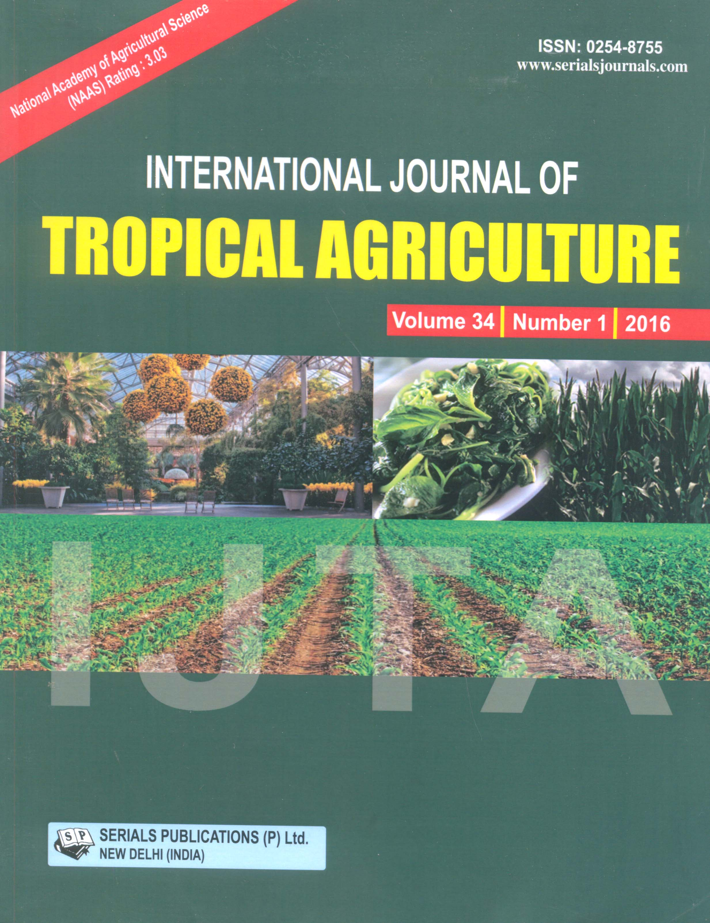 International Journal of Tropical Agriculture